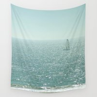 sailing Wall Tapestries featuring Sailing by Catherine Holcombe