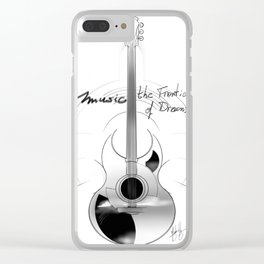 The acoustic guitar - Music, The Frontier of Dreams. Clear iPhone Case