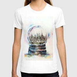 Snow globe - watercolour illustration T-shirt