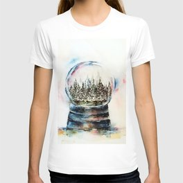 Snow globe - watercolour illustration T-shirt