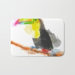 Watercolor Toucan Bath Mat