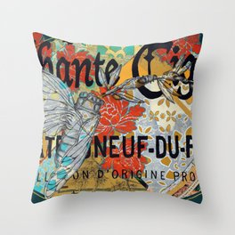 Chante Cigale Throw Pillow