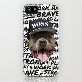 Pitbull Boss iPhone Case