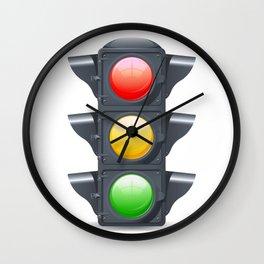 Traffic Lights Realistic Wall Clock