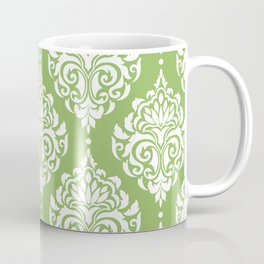 Green Damask Coffee Mug