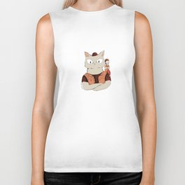 Walter the metal cat Biker Tank