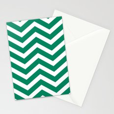 chevron emerald Stationery Cards