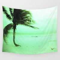palm Wall Tapestries featuring Palm by Julia Aufschnaiter