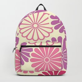 Sumi Print with Pink Daisys Backpack