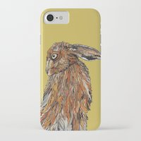 hare iPhone & iPod Cases featuring Hare by Louisa Heseltine