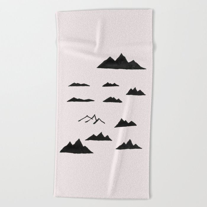 Mountains Beach Towel