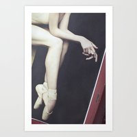 ballerina Art Prints featuring Ballerina by whimsy canvas