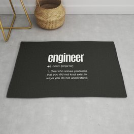 Funny Engineer Definition Rug