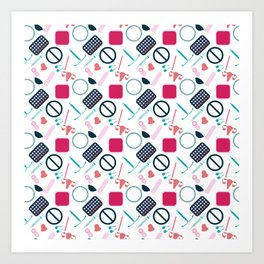 Contraception Pattern Art Print