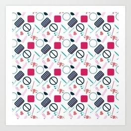Contraception Pattern Art Print
