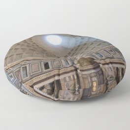L'occhio di Roma - Pantheon, The Eye of Rome, Italy Floor Pillow