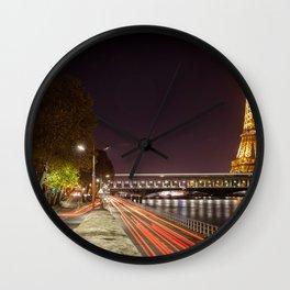 Paris rush hour Wall Clock