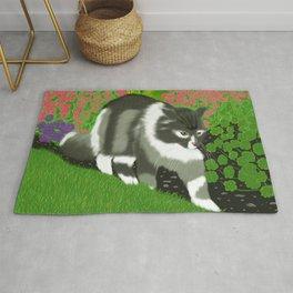 Cat In The Garden Rug
