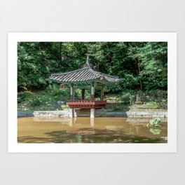 The aeryeonjeong in the Aeryeonji Pond of the secret garden_Changdeokgung Palace Art Print