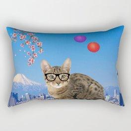 Nessie in Tokyo Rectangular Pillow