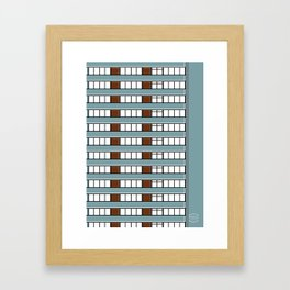 Edificio Las Américas -Detail- Framed Art Print