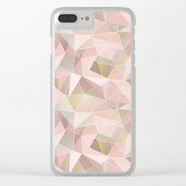 Broken glass in light pink tones. Clear iPhone Case