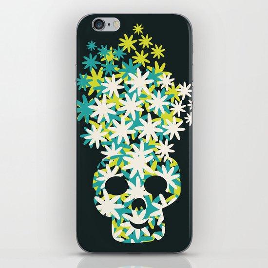 Flowers on the head. iPhone & iPod Skin