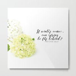 Hope for Spring in the Winter Metal Print