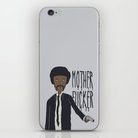pulp fiction iPhone & iPod Skins featuring Pulp Fiction by Molnár Roland
