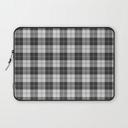 Clan Erskine Tartan // Black & White Laptop Sleeve