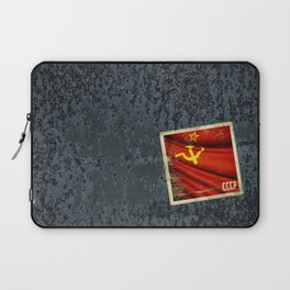 Sticker of Soviet Union (1922-1991) flag Laptop Sleeve