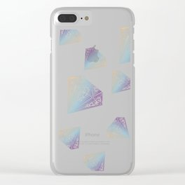 Smokey Diamond Clear iPhone Case