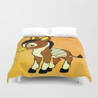 donkey Duvet Covers featuring Childhood Donkey by Texnotropio