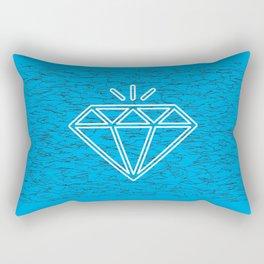 diamond cyan Rectangular Pillow