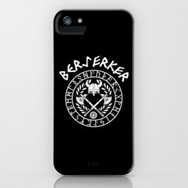 Berserker Vikings Germanic Runes Norse Mythology iPhone Case