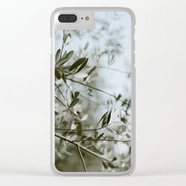 Olive Branches in Tuscan Olive Grove Clear iPhone Case