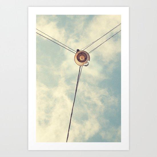 Old Lamp Art Print