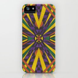 Purple Cross iPhone Case
