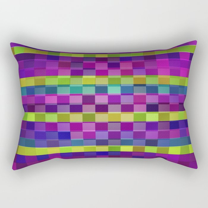 Boxed Diamond Rectangular Pillow