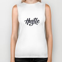 hustle Biker Tanks featuring Hustle by Cultivating Positivity