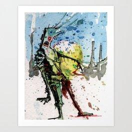 desert zombie Art Print