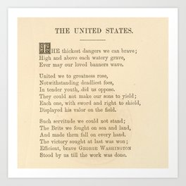 The United States - Robert Blackwell (1868) Art Print