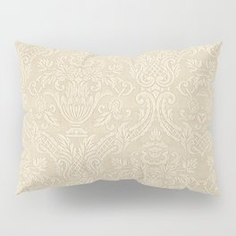 Vintage Wallpaper Pattern Beige Floral Elegant Damask Pillow Sham