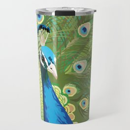 The Majestic Peacock Travel Mug