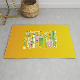 Difficult roads leads to beautiful destinations  Rug