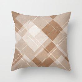 Overlapping Diamond Design in Cinnamon Throw Pillow
