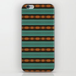 Colorful hand drawn horizontal stripes pattern. iPhone Skin