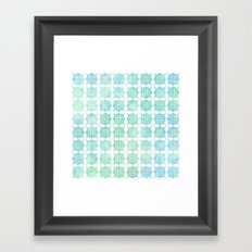 Pattern Play: Green/Blue Geometric  Framed Art Print