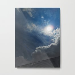 """""""Early Stages Of The Eclipse"""" Metal Print"""