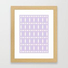 Vintage Jewels - Lilac Framed Art Print